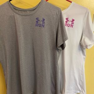 Women's 2 under armour  RUN T-shirtS size XL